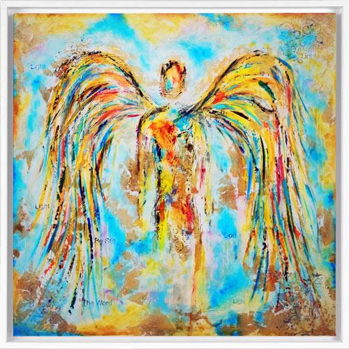 angel paintings on canvas
