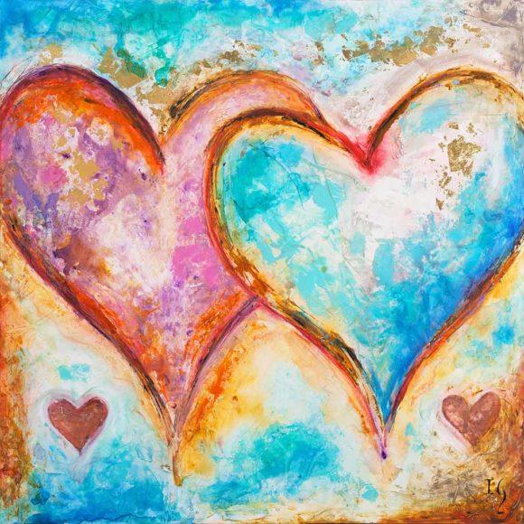 original heart paintings