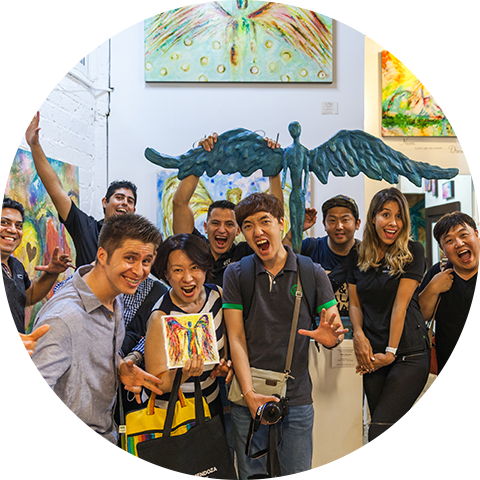 Our friends from South Korea visit our gallery for second time!